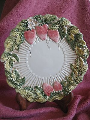 """Great Strawberry 8"""" Collectible Plate..handpainted Takahashi, San Francisco"""