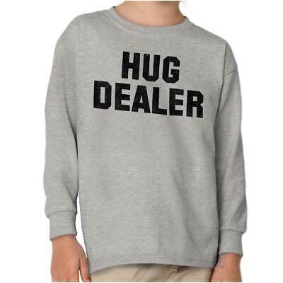 Hug Dealer Hugger Friends Uni Cuddle Hugs Relationship Youth Long Sleeve Shirt