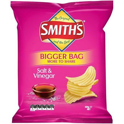 Smith's Crinkle Cut Chips 330g - Salt & Vinegar