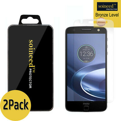 [2-Pack] SOINEED Tempered Glass Screen Protector For Motorola Moto Z Force Droid
