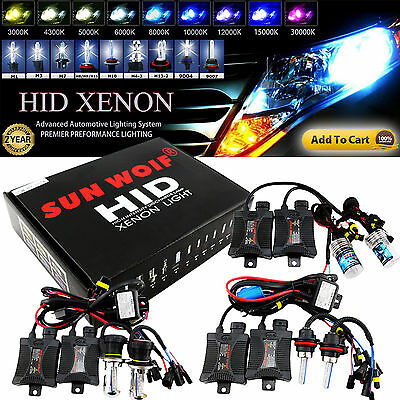 55W HID Xenon Headlight Conversion KIT Bulbs H1 H3 H4 H7 H10 9005 9006 880 881