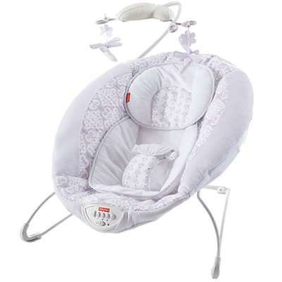 Fisher Price Fairytale Newborn Deluxe Bouncer & Baby Mobile, Lavender (Open Box)