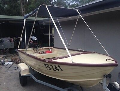 Stacer Riverra 3.7m Tinny 15hp Mercury No reserve owner moving interstate