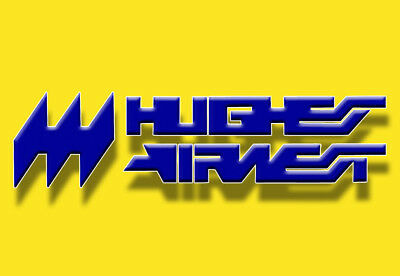 "Hughes Airwest Airlines Logo 3.25""x2.25"" Handmade Fridge Magnet (LM14065)"