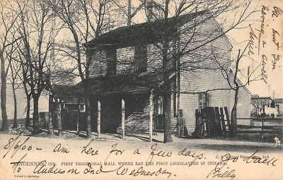 Vincennes Indiana Territorial Hall Street View Antique Postcard K78593