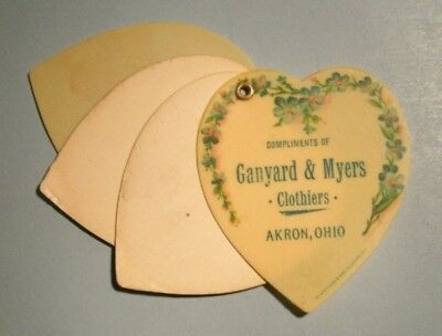 Akron, Ohio.  Ganyard & Myers, Clothiers.  Small note pad with celluloid cover