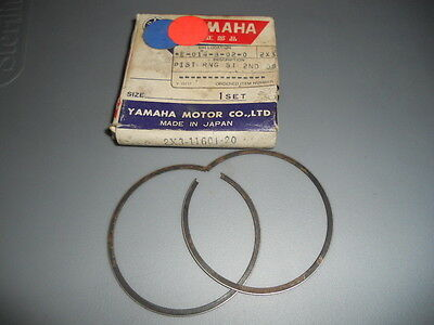 NOS 1980 Yamaha YZ125 Piston Rings 0.50 (2ND O/S) 2X3-11601-20