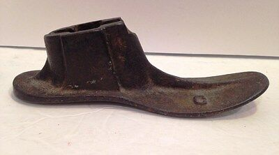"Antique Cast Iron Cobbler's Children's Shoe Form Last ""C"", 6 ¾"" Long No Stand"