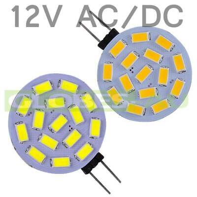 12V G4 Led Ac/dc 12 Smd 5730 Cool Warm White Disc Light Globe