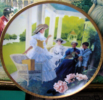 Avon President's Club Limited Edition Plate Mrs. Albee's Afternoon Tea c.1991