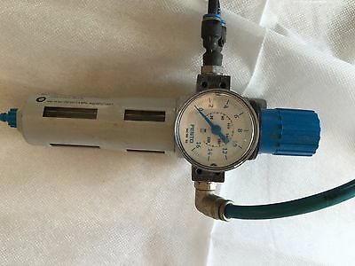 Festo Flow Control Valve meter and water trap