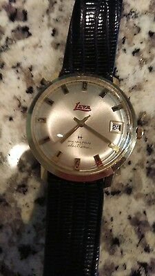 10k Gold Filled Vintage Lava Branded Hamilton Electric Men's Watch - Trippy!