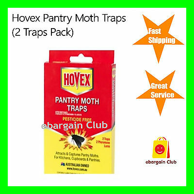 Hovex Pantry Moth Traps Pesticide Free Non-Toxic (2 Traps Pack) eBargainClub