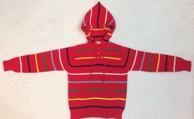 Full Fashioned Grand Knit Wear Vintage Boy's Hooded Sweater Size 6X Flawless