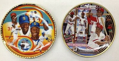 2 Sports Impressions Mini Plates Joe Morgan & Ken Griffey Jr. + Sr.