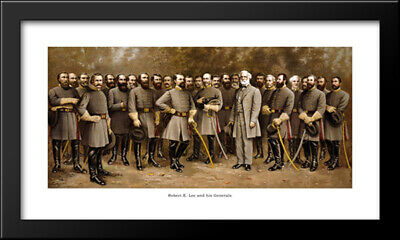 Robert E. Lee and his Generals 28x19 Framed Art Print by Fred Mathews