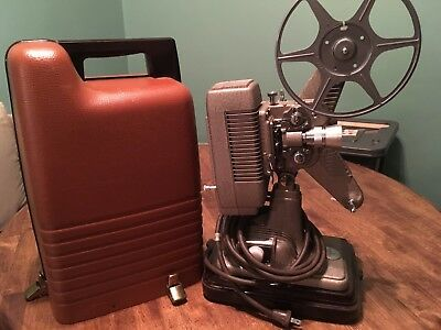 Vintage Revere 8mm Movie Projector Model P-90 with Hard Case