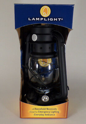 New Lamplight Farms Black Oil Lantern with Burner and Globe # 52664