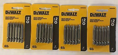 "Dewalt 24 Pc 2"" P2 Phillips Power Bits Dw2022Cr6 Screw Bits (4 Packs 6 Bits Ea)"