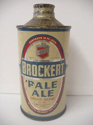 Rare 12 oz IRTP Brockert Pale Ale low profile cone top beer can