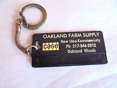 Vintage Case Tractor -New Idea-Oakland IL Farm Supply Advertising Keychain