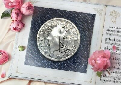 "1905 Hand Carved Original Hobo Nickel One Of A Kind! ""Jessica Rabbit"""