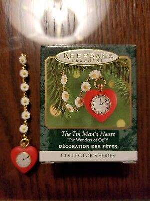 HALLMARK 1999 Tin Man HEART mini Christmas ornament wizard OZ miniature New