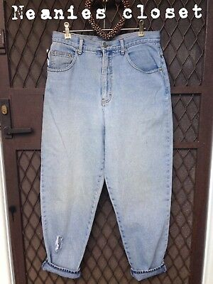 Vintage FADED DENIM Jeans High Waisted BOYFRIEND STYLE LOOK GORGEOUS ON BARGAIN
