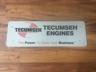 Tecumseh Engines  Thick Metal Dealer Sign  7 X 23 (Power To Grow Your Business)