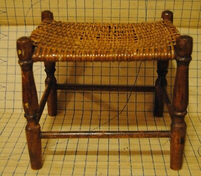 Antique weaved stool footrest seat chair
