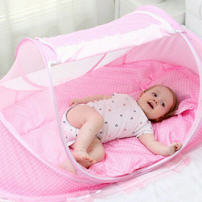 With Folding Portable Baby Infant Pad 5pcs/Set Crib Sets Sealed Mosquito Net J