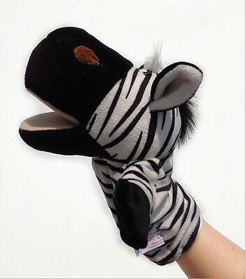 Animal Wildlife Hand Glove Puppet Soft Plush Puppets Kid Children Toy Gift AU~