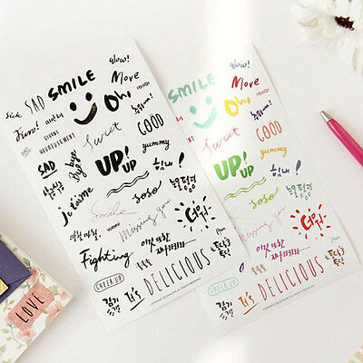 8 sheets letter word diary books Scrapbooking Crafts deco PVC Craft stickers AU~