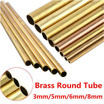 Solid Brass Round Rod Lathe Bar Stock Small Assortment Tube 3/5/6/8MM L 300MM