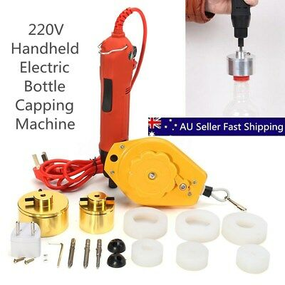 Handheld Electric Bottle Capping Machine Caps Sealer Sealing Mold 10-50mm 220V
