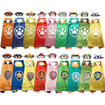 PAW Costumes Superhero Capes with Masks Set Kids Cosplay Birthday Party Favor