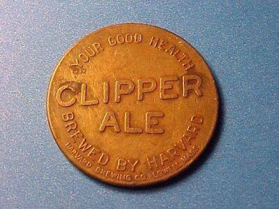Old Luck Token Clipper Ale Brewed By Harvard
