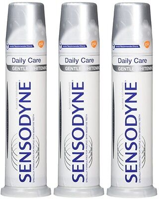 Sensodyne Daily Care Gentle Whitening Pump Toothpaste (3 x 100ml)