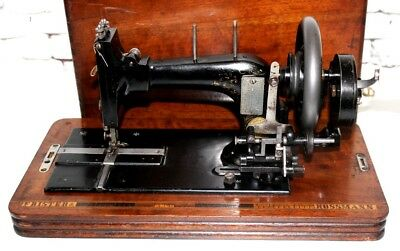 19C Antique Frister & Rossmann Hand Crank Sewing Machine [PL4066]
