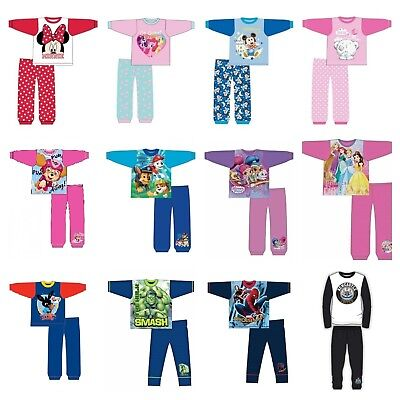 Baby Girls Minnie Mouse Kids Pyjamas Pyjama Set Pjs Ages 6 9 12 18 24 Months