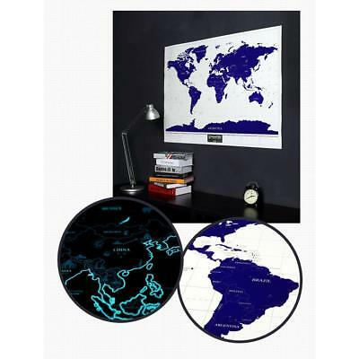 Luminous Scratch Off World Map Travel Edition Poster Personalized Journal Log