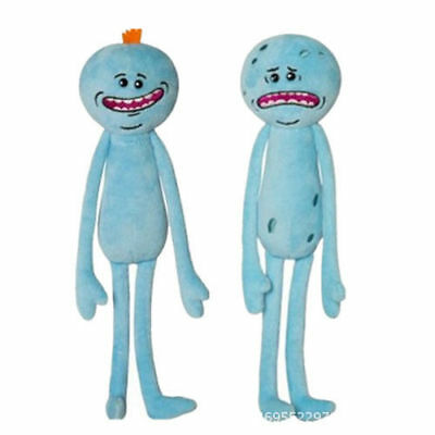 2PCS Rick And Morty Mr Meeseeks Happy&Sad Face Stuffed Plush Doll Soft Toy Gift