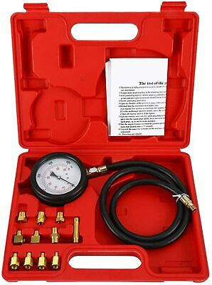 Oil Pressure Tester Gauge Engine Diagnostic Tester Set Auto Transmission 500psi
