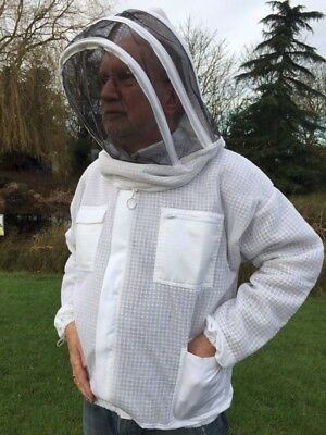 Adult Beekeeping Ventilated Jacket & Veil Smock, Bee Keeping, Fencing hat style