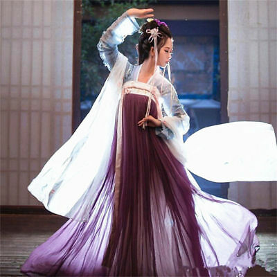 Chinese Han Dynasty Tang Dynasty Skirt Ancient Dress Cosplay Peri High Class