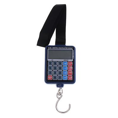 Portable 6 in 1 LCD Luggage Scale Digital Hanging Scale 50kg/110lbs Black
