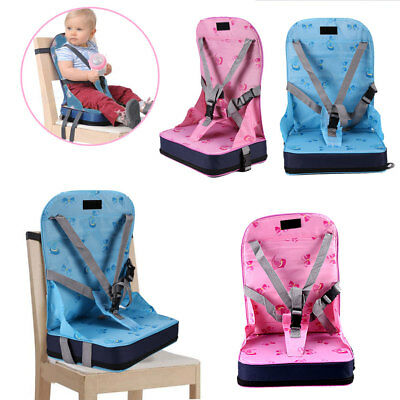 Blue Pink Portable Baby Toddler Infant Dining Chair Booster Seat Harness Safety
