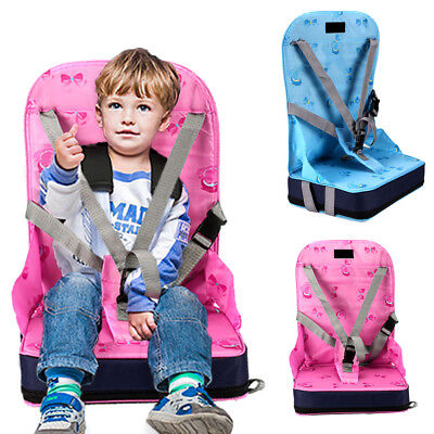Pink Blue Portable Baby Toddler Infant Dining Chair Booster Seat Harness Safety