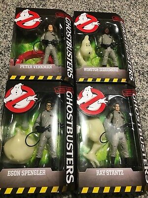 Ghostbusters Classic WINSTON RAY PETER EGON Mattel Complete Set LOT 4 NEW 2016