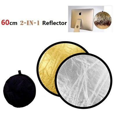 60cm 2 In 1 Collapsible Reflector Multi Panel Bag Light Disc Photo Photography